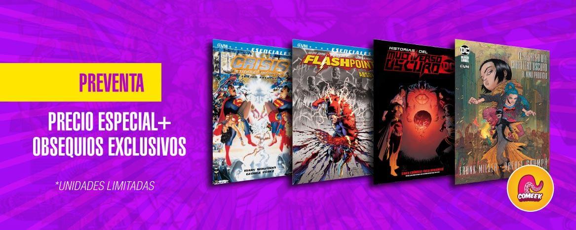 super preventas Dc comics en oferta + obsequios