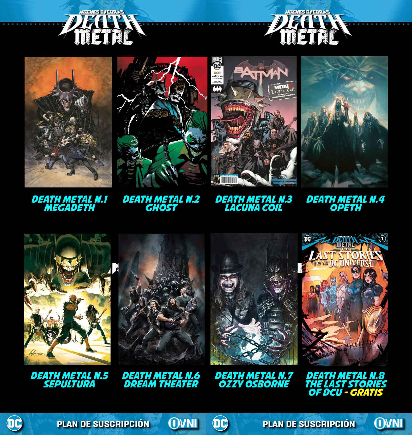 death metal dc comics portadas bandas