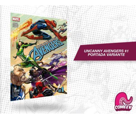 Uncanny Avengers número 1 portada variante nueva serie