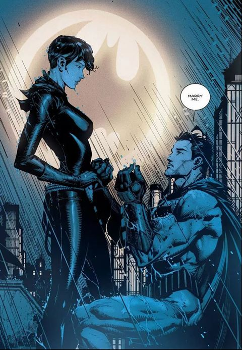 Batman se casa Bruce Wayne Selina Kyle Gatubela